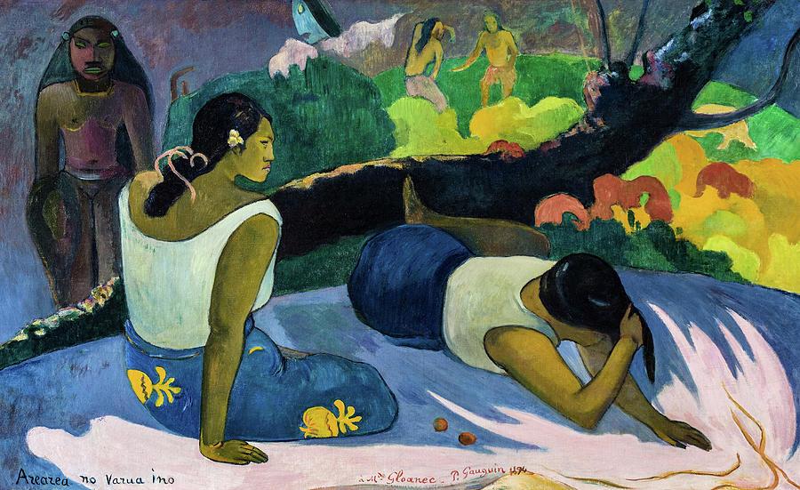 Paul Gauguin Painting - Reclining Tahitian Women, 1894 by Paul Gauguin