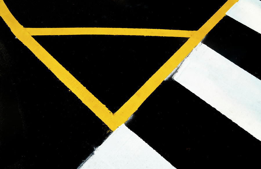 Rectangles and Triangles Meet On The Street by Gary Slawsky