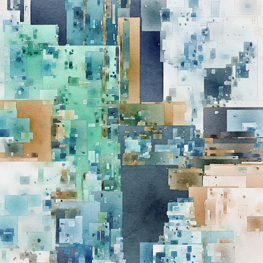 Rectangular Abstraction Digital Art by David Hansen