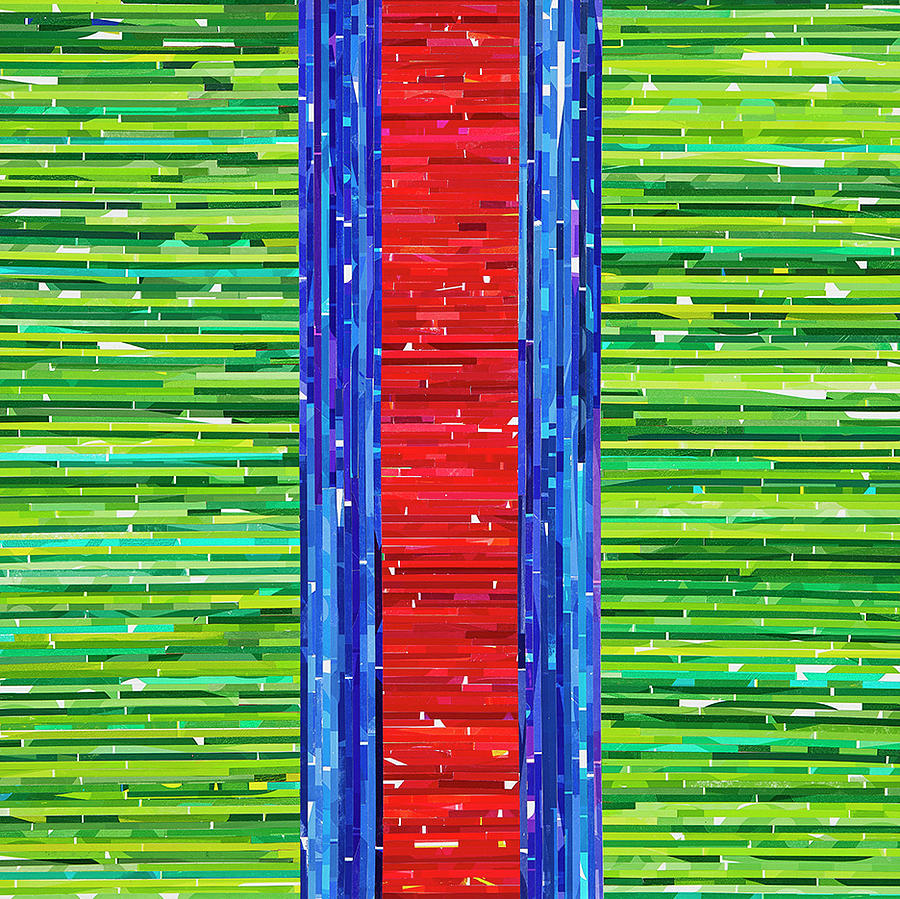 Abstract Mixed Media - Recurring Rgb by Color Bliss