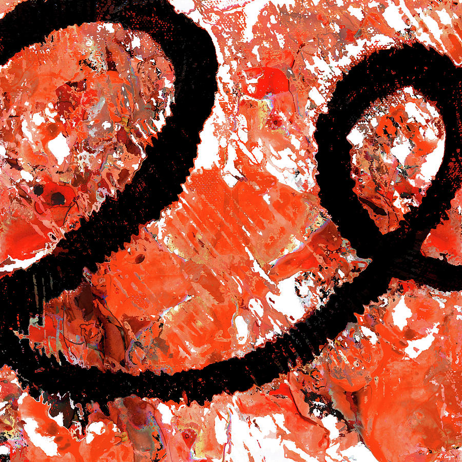 Red Painting - Red Abstract Art - Tango - Sharon Cummings by Sharon Cummings
