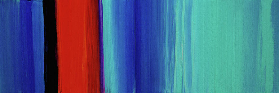 Abstract Painting - Red and Blue Art - Calm Skies 1 - Sharon Cummings by Sharon Cummings