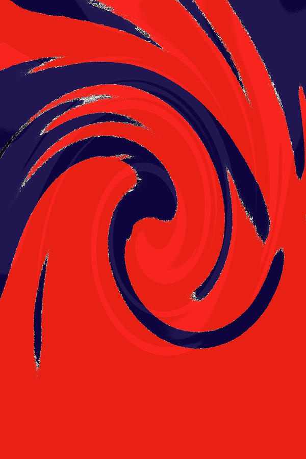 Abstract Photograph - Red And Blue Swirls by Holly Morris