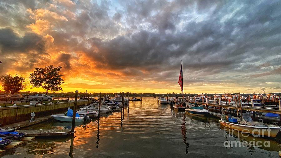 Red Bank Sunset Photograph