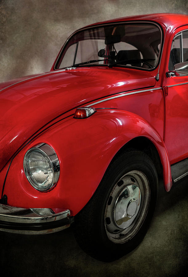 Red Beetle Car by Jaroslaw Blaminsky