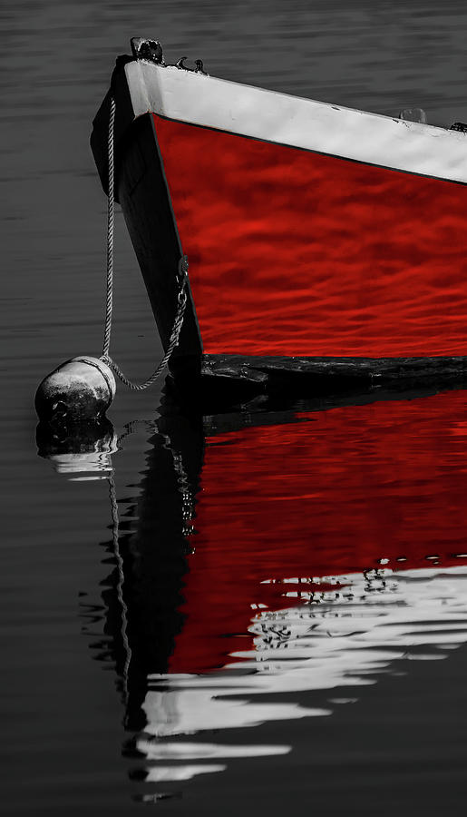 Red Boat Photograph - Red Boat 2 by Dapixara Art