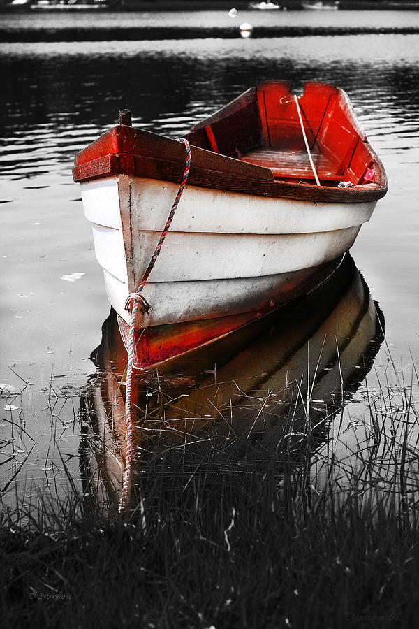 Red Boat Photograph - Red Boat by Dapixara Art
