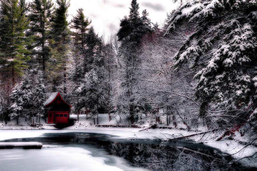 Red Boathouse by David Patterson