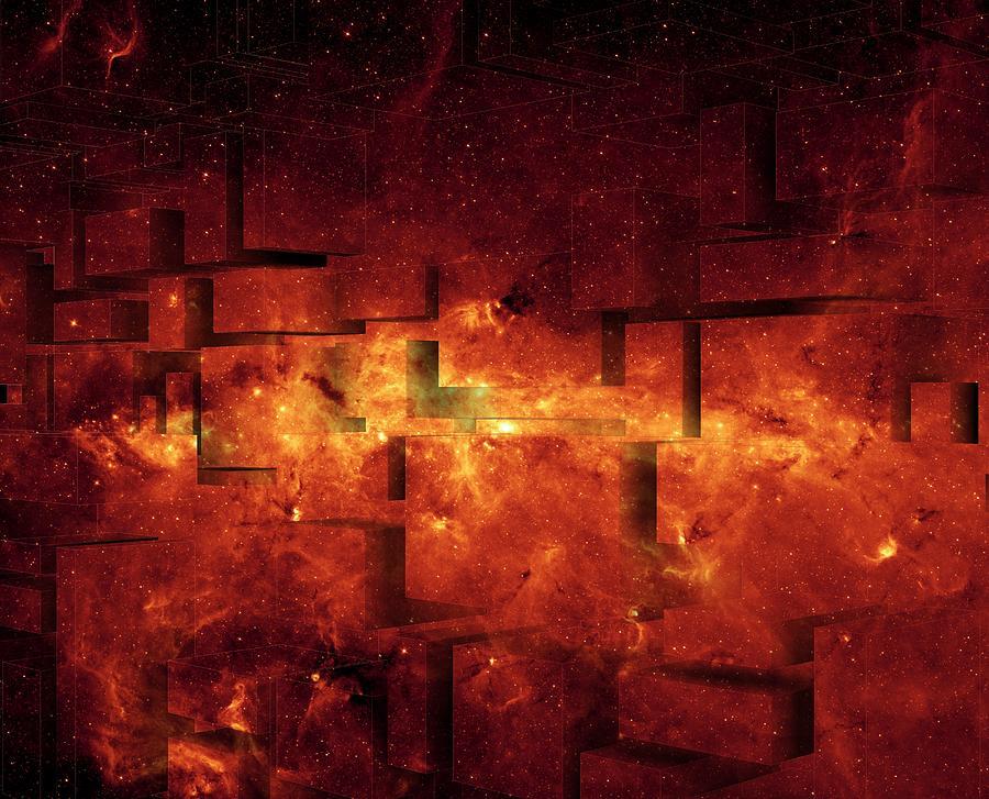 Red Broken Sky Digital Art