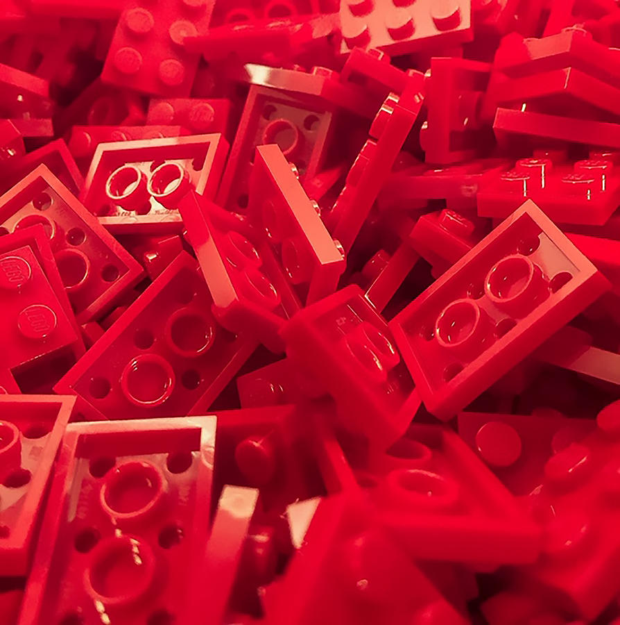Red Photograph - Red Building Blocks by Jeremy Edsall