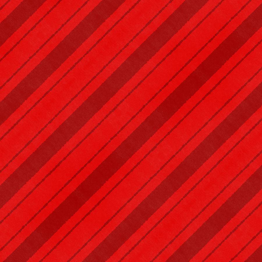 Stripes Painting - Red Candy Cane Stripe Pattern - Art by Jen Montgomery by Jen Montgomery