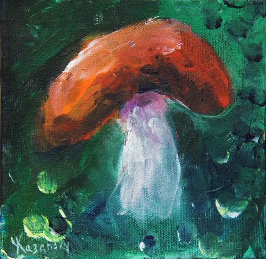 Red Cap Mushroom by Yulia Kazansky