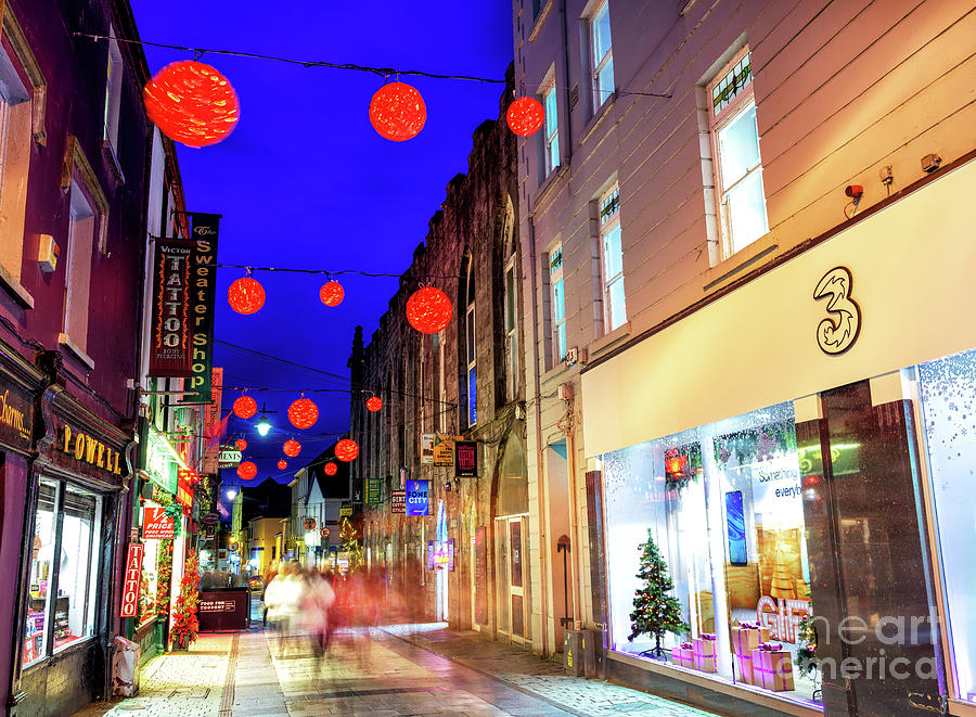 Red Christmas Balls in Galway by John Rizzuto