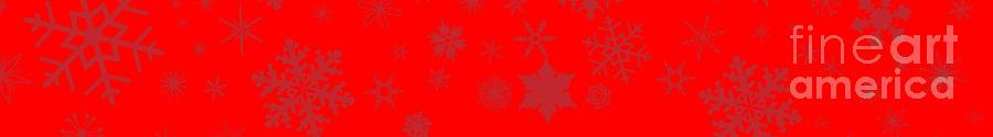 Red Christmas Snowflake Web Banner by Bigalbaloo Stock