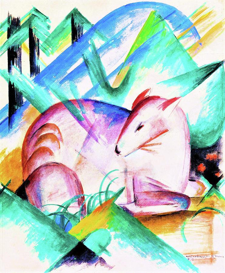 Deer Painting - Red Deer - Digital Remastered Edition by Franz Marc