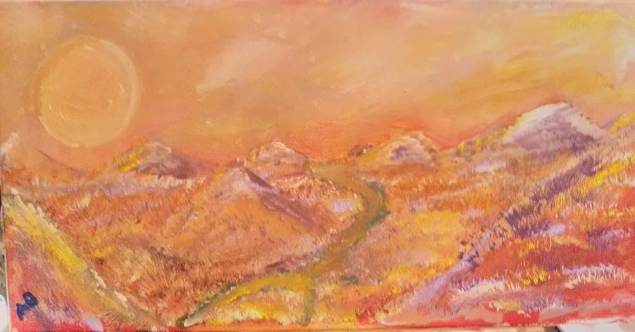 Landscape Painting - Red Desert by Andrew Blitman