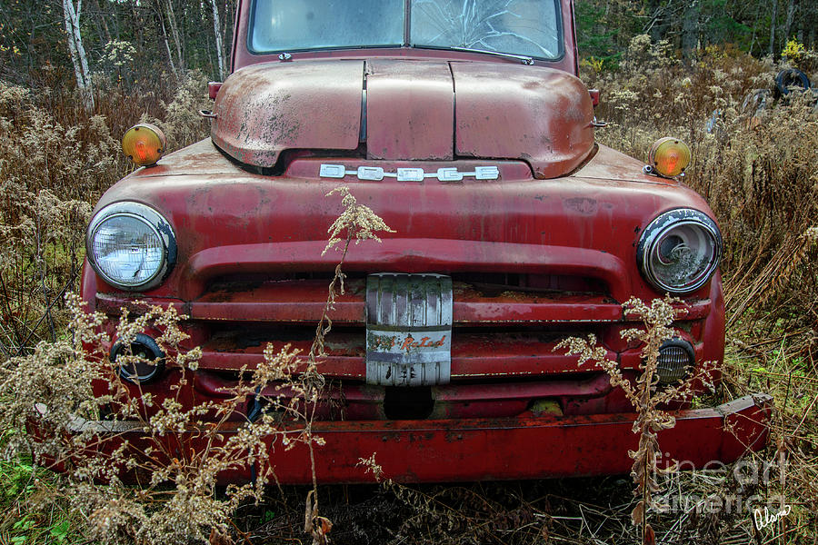 Red Dodge Photograph