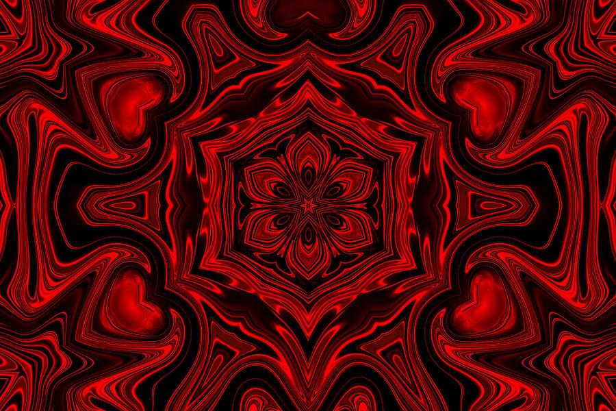 Red Hot Hearts Digital Art