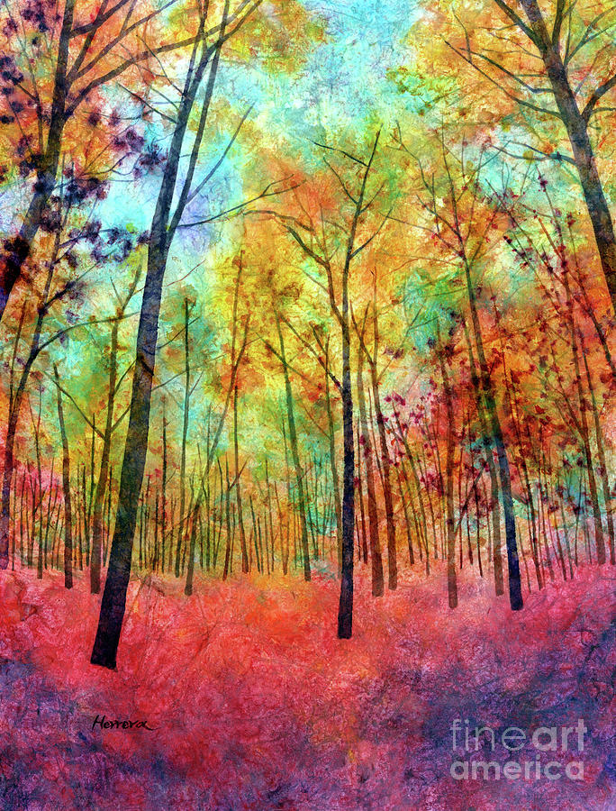 Red Hue-pastel Colors Painting