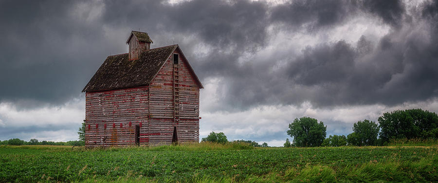 Red Ladder Barn In Storm Photograph
