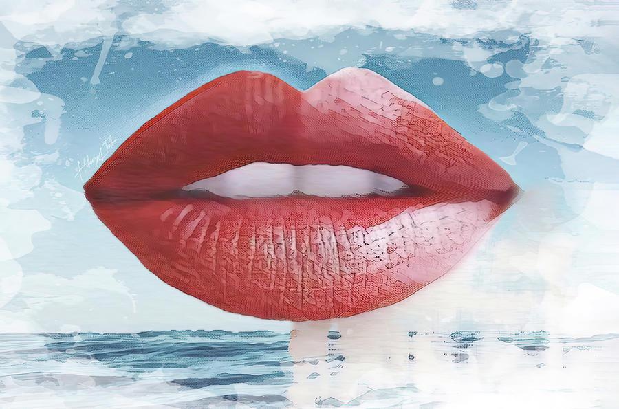 Red Lips In The Sky Digital Art