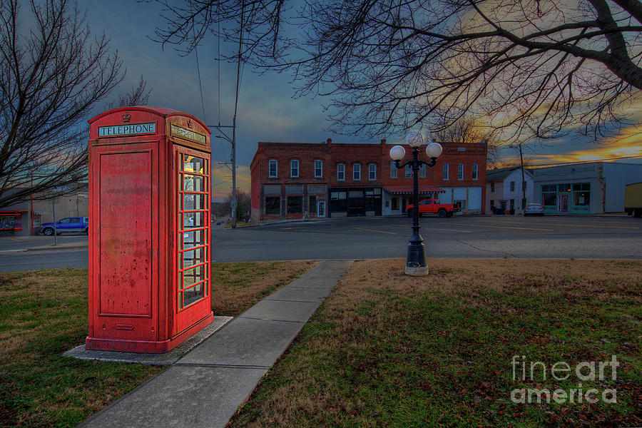 Hdr Photograph - Red London Phone Booth  by Larry Braun