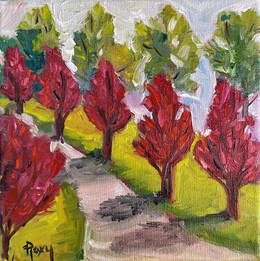 Red Maple Sidewalk Painting