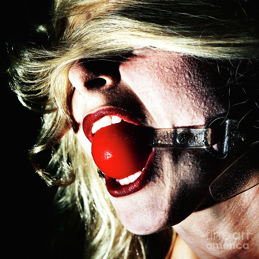 Bdsm Photograph - Red Mouth Ball #1214 by William Langeveld
