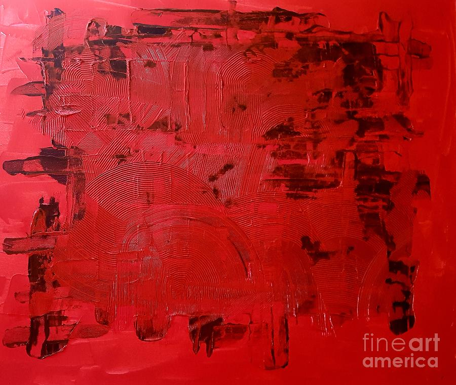 Red n Black Painting by Andy Thompson