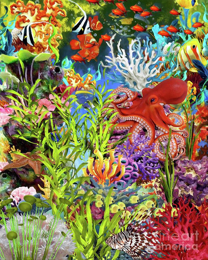 Red Octopus  by Olga Hamilton