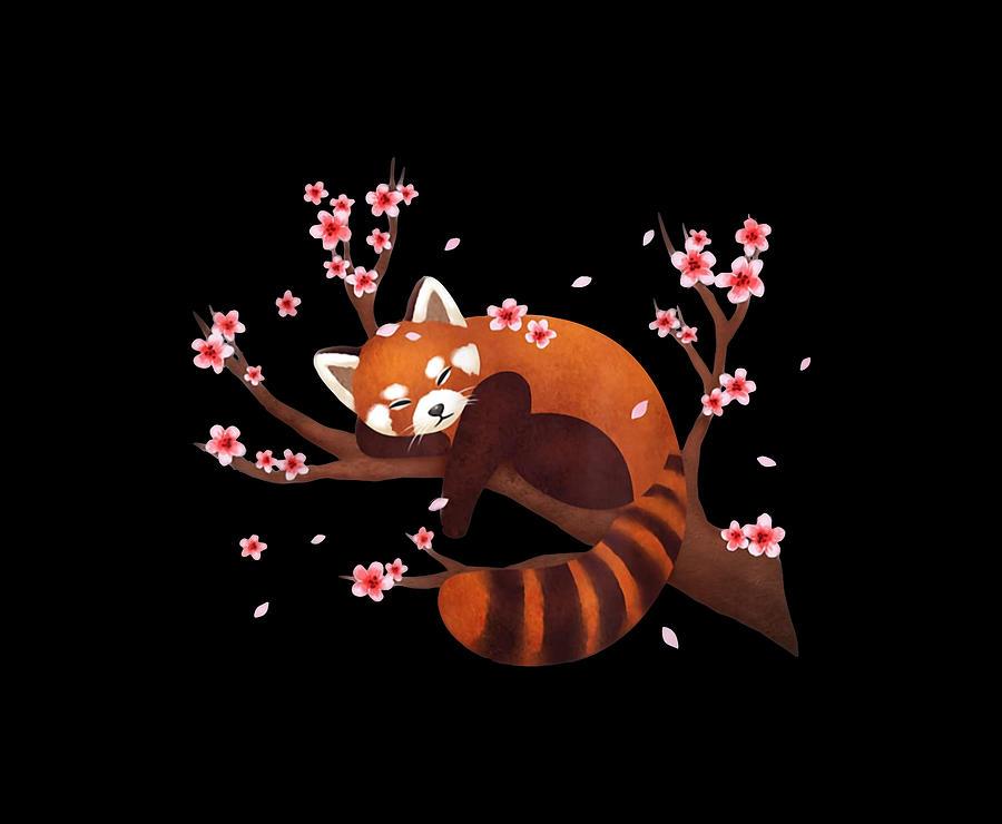 Red Panda Sleep Digital Art