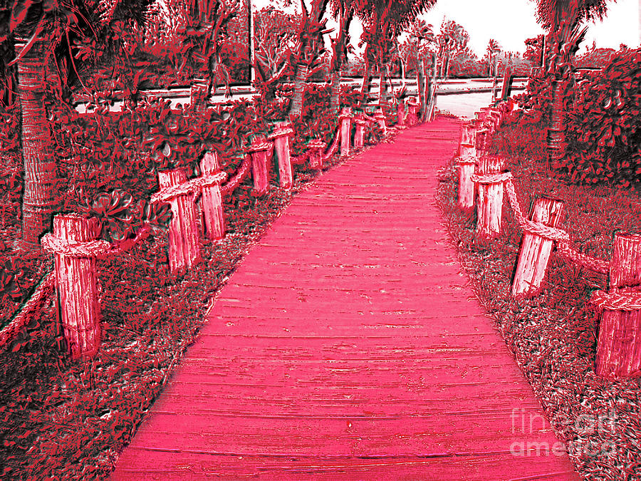 Scenic Photograph - Red Pathway by Mary Mikawoz
