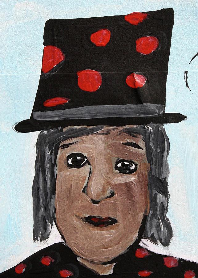 Altered Book Mixed Media - Red Polka Dot Top Hat by Janyce Boynton
