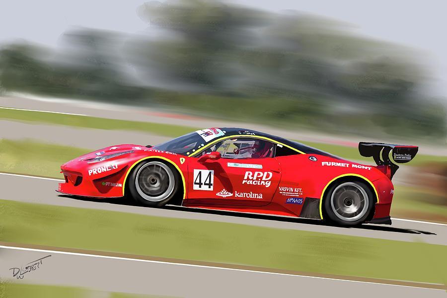 Red Race Car by David Luebbert
