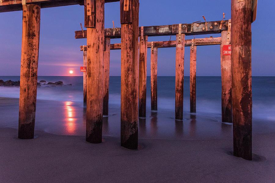 Ocean Grove Photograph - Red Rising by Kristopher Schoenleber