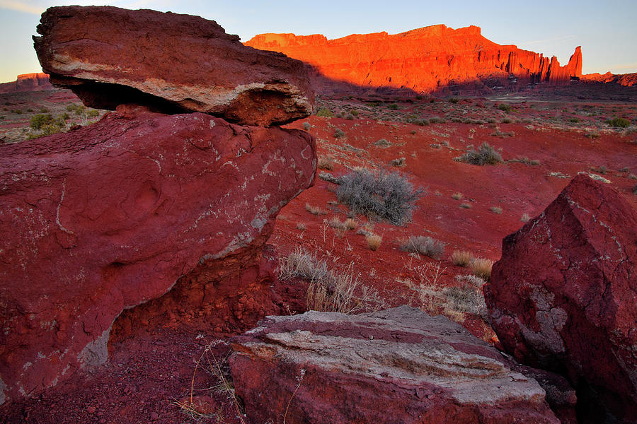 Red Rock Glows In Castle Valley Photograph
