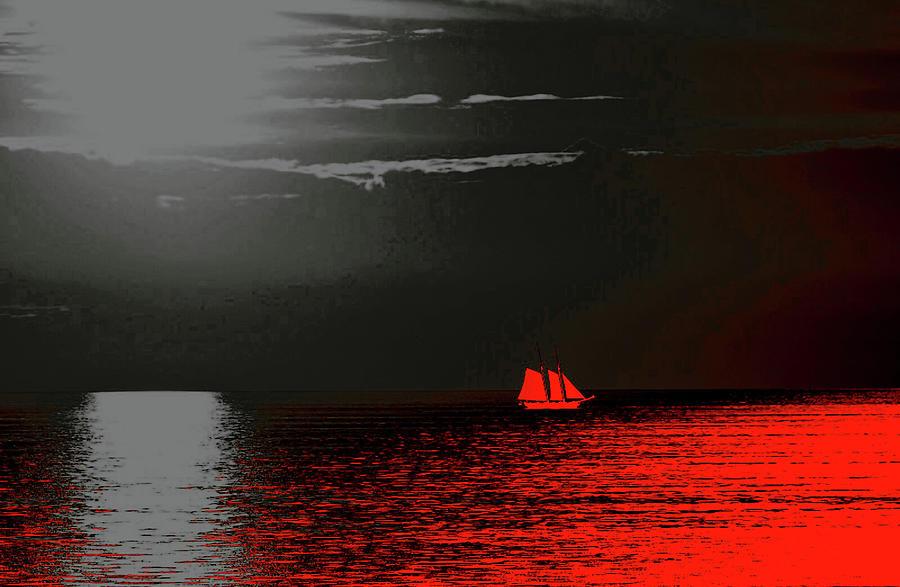 Red Sail Digital Art