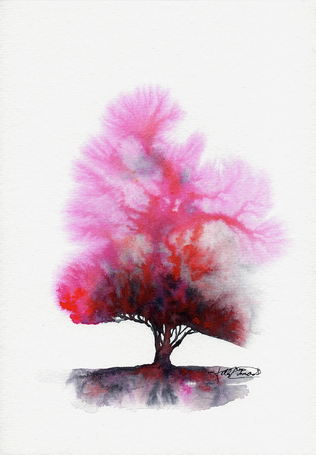 Nature Painting - Red Skies by Kelly Edwards