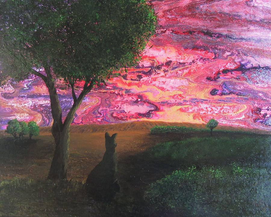 Red Sky At Night  What A Delight Painting