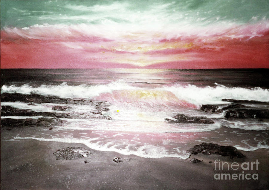 Red Sky in Morning Painting by Terri  Meyer