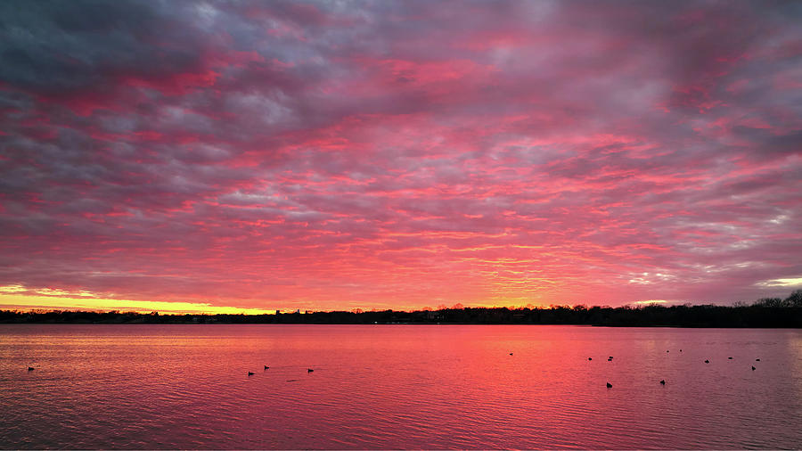 Red Sky Sunset 012420 by Rospotte Photography