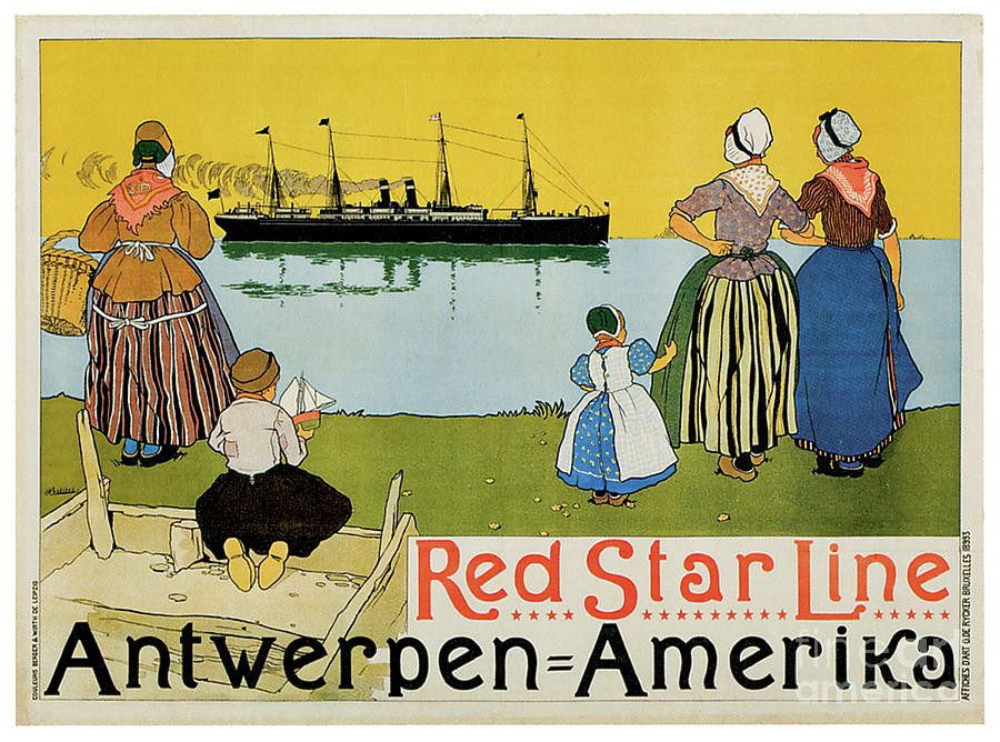 Red Star Line Cruise Ship Travel Poster Painting