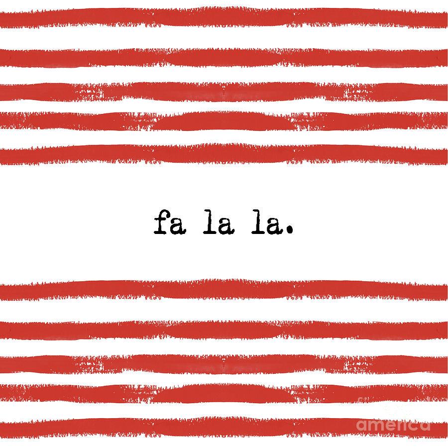 red stripes Fa la la Digital Art
