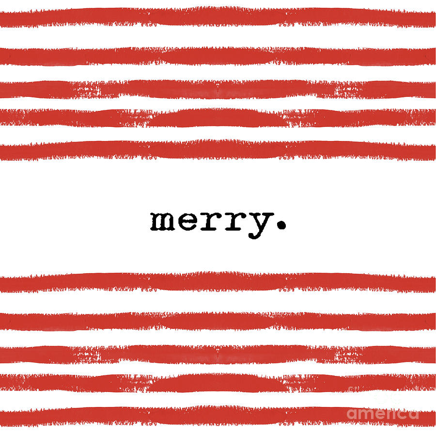 red stripes Merry Digital Art