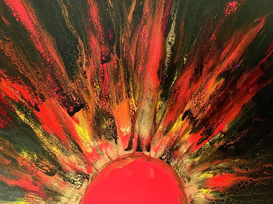 Red Sunrise Painting