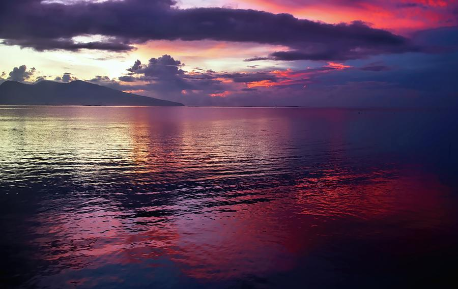 Red Tahitian Sunrise Photograph