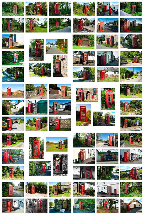 Red Telephone Box Collage Large Photograph