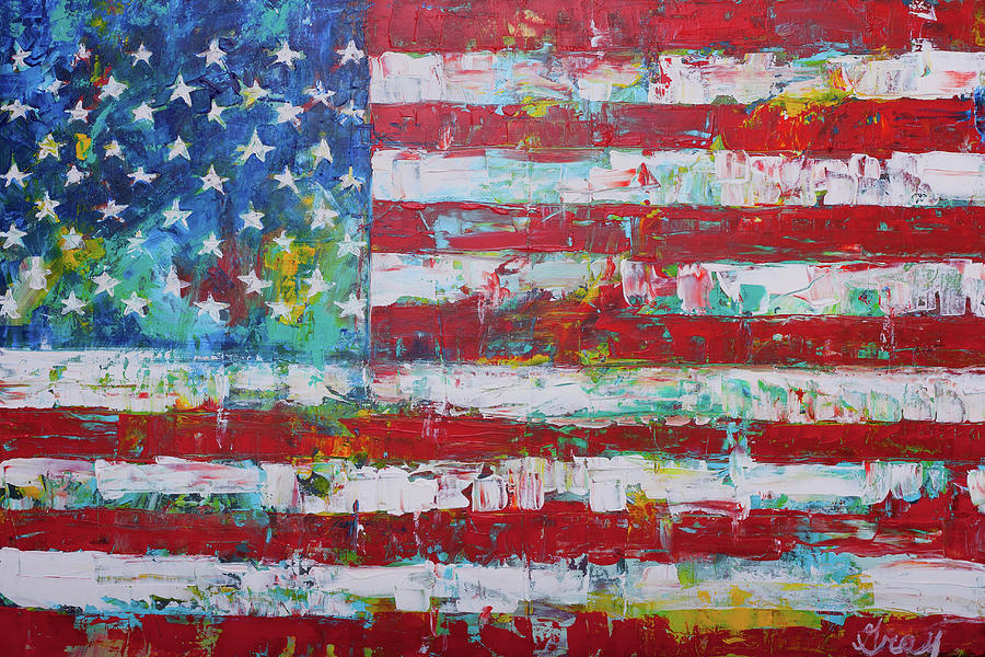 Red, White And Blue Painting