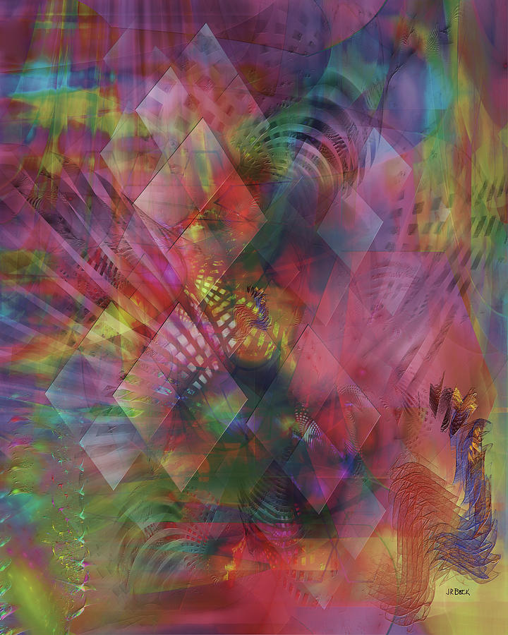 Abstract Digital Art - Redazzled by Studio B Prints
