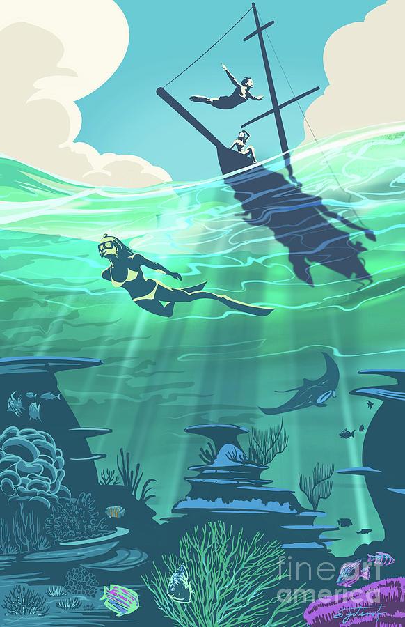 Reef Diver by Sassan Filsoof